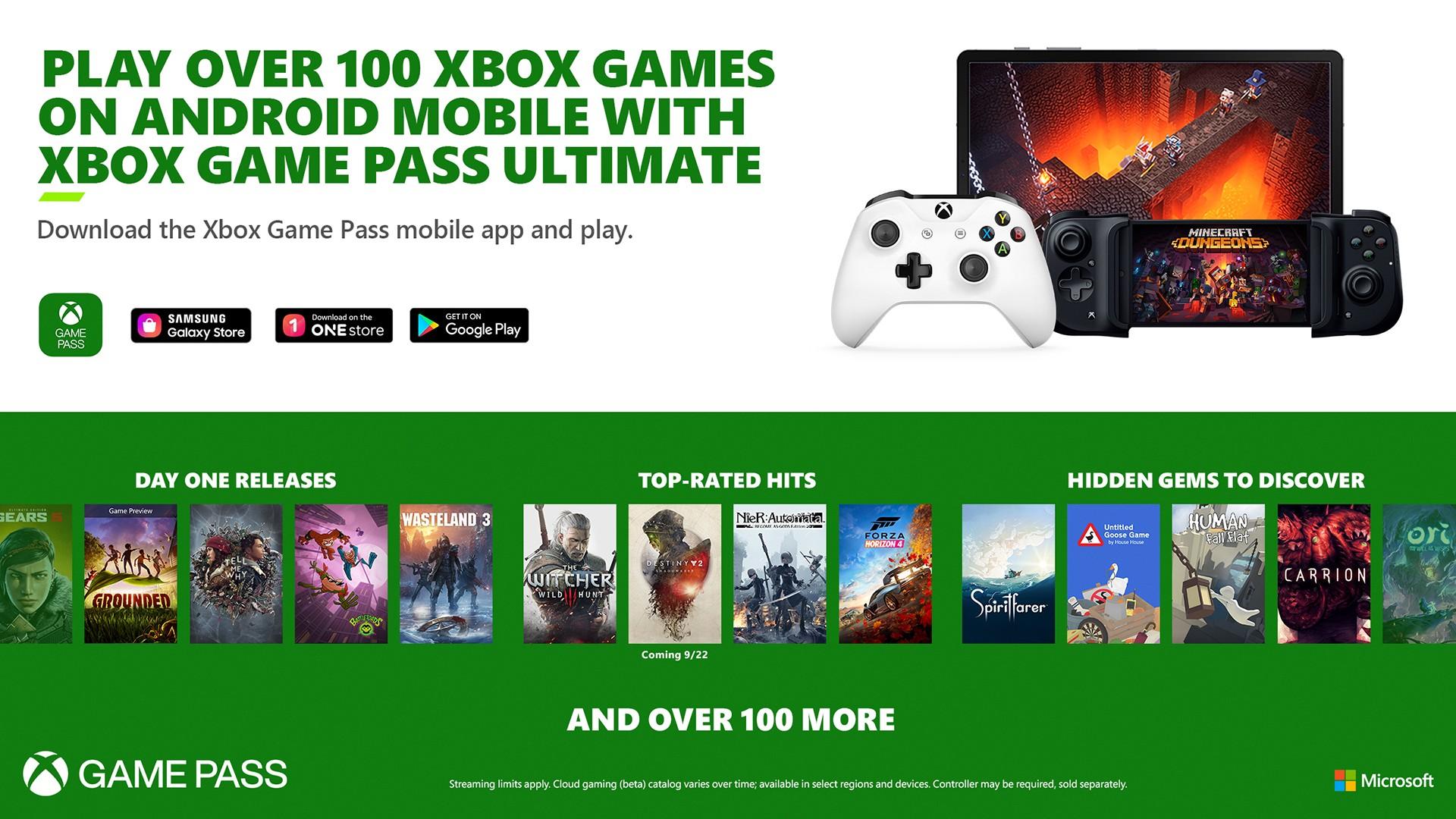 Cloud Gaming im Xbox Game Pass Ultimate mit über 150 Titeln HERO