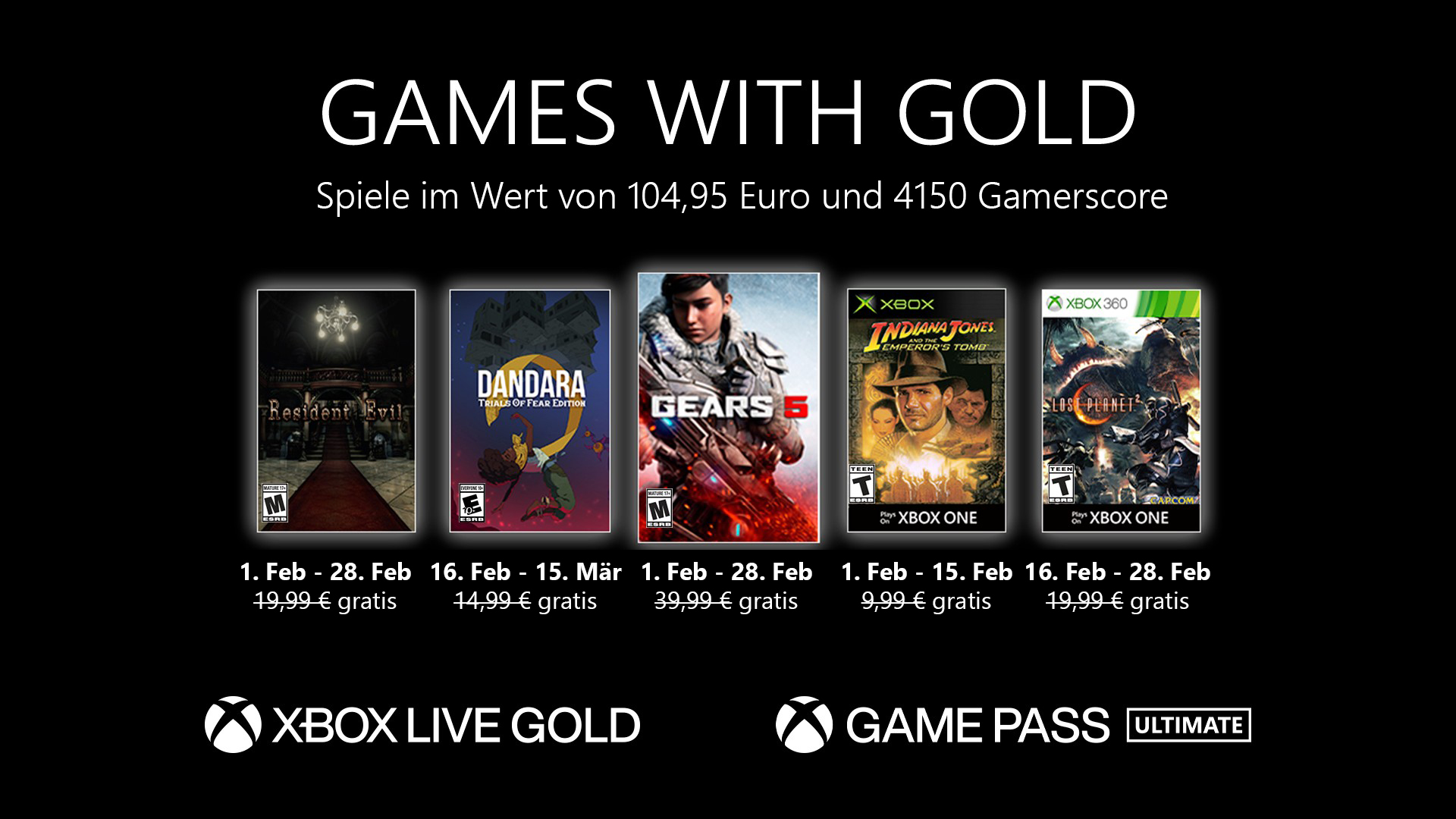 Games with Gold Februar 2021