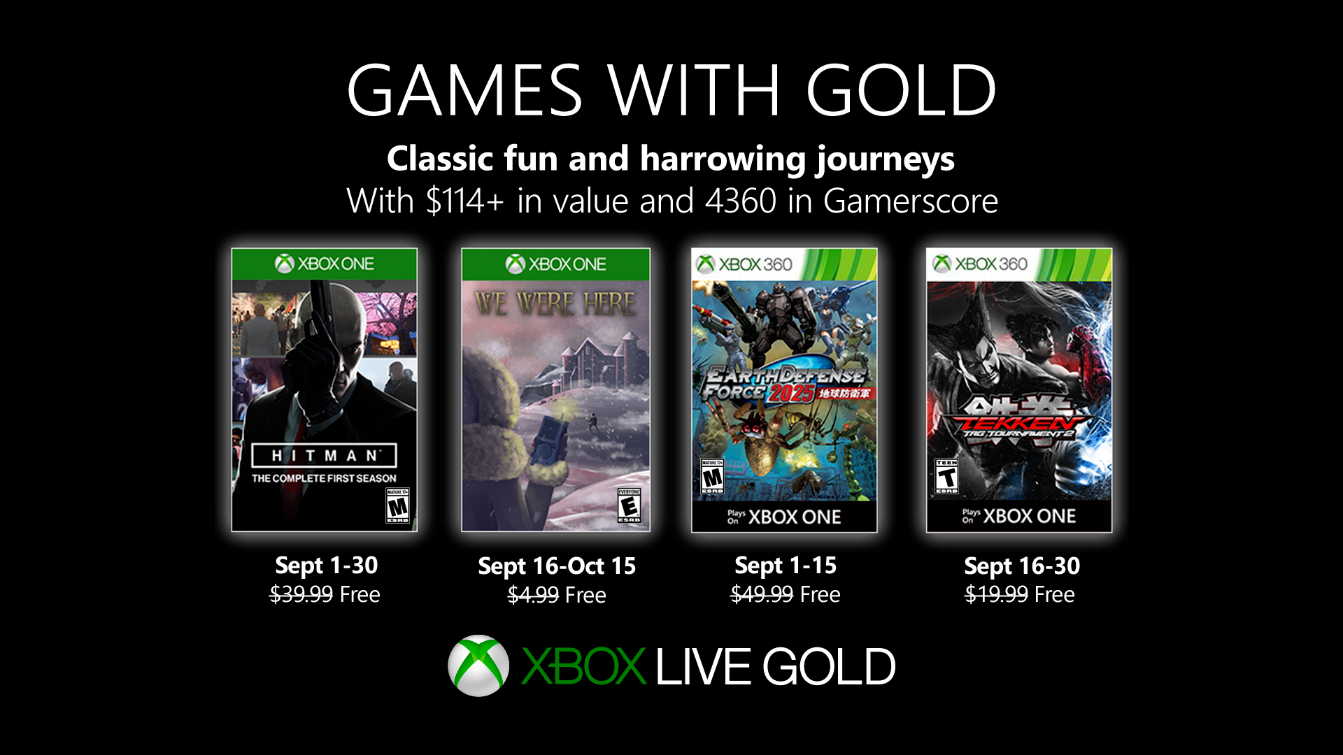 Video For New Games with Gold for September 2019