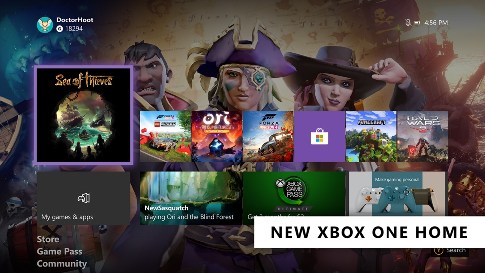 Xbox One Simple Home UI