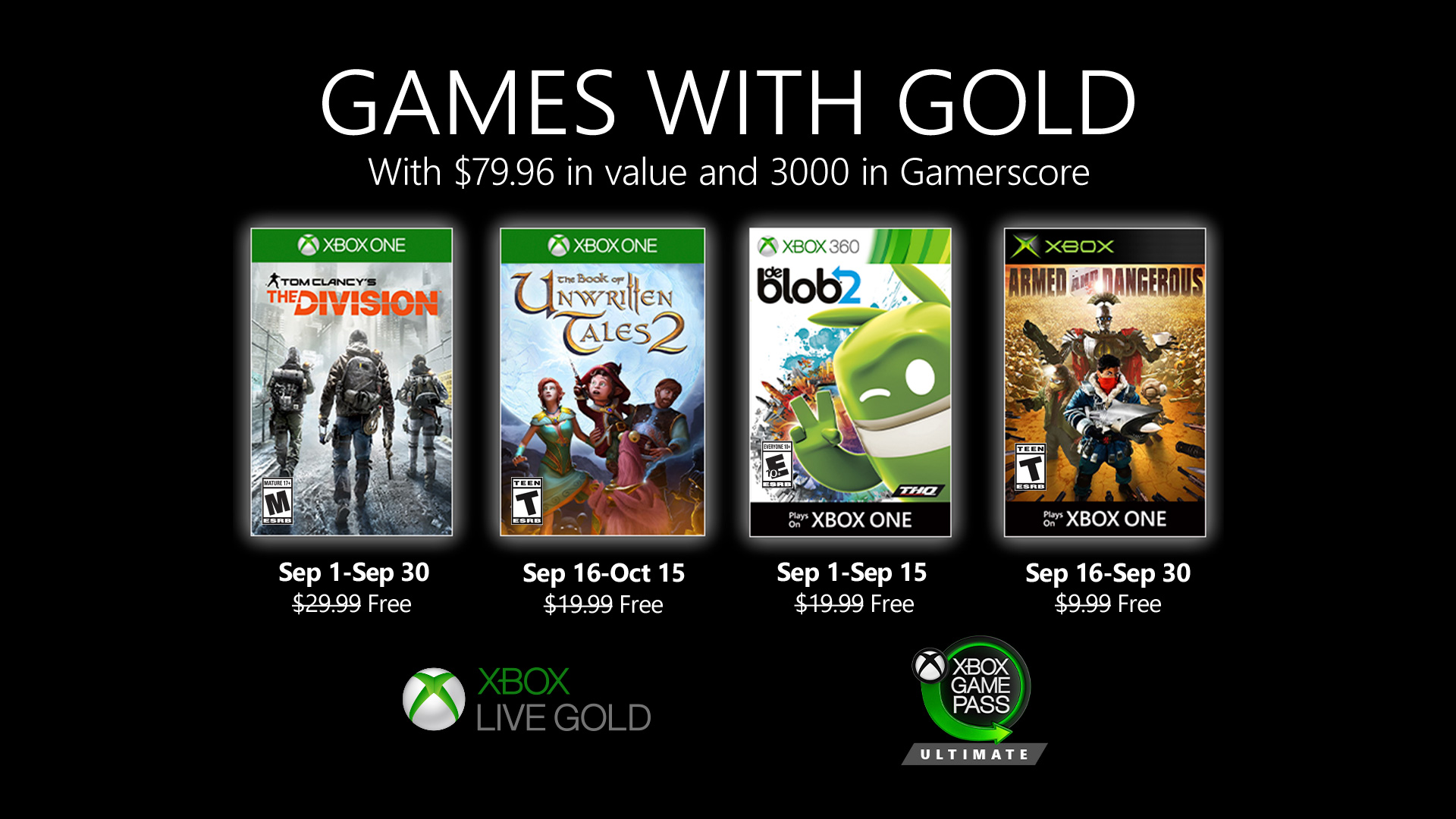 Video For New Games with Gold for September 2020