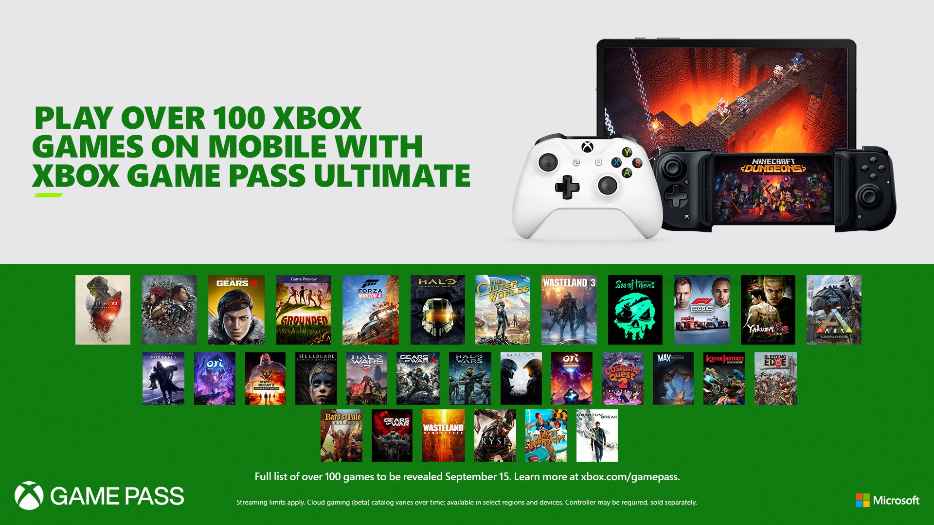 Xbox Game Pass Ultimate Delivers 100 Games Directly To Your Mobile Device Beginning September 15 Xbox Wire