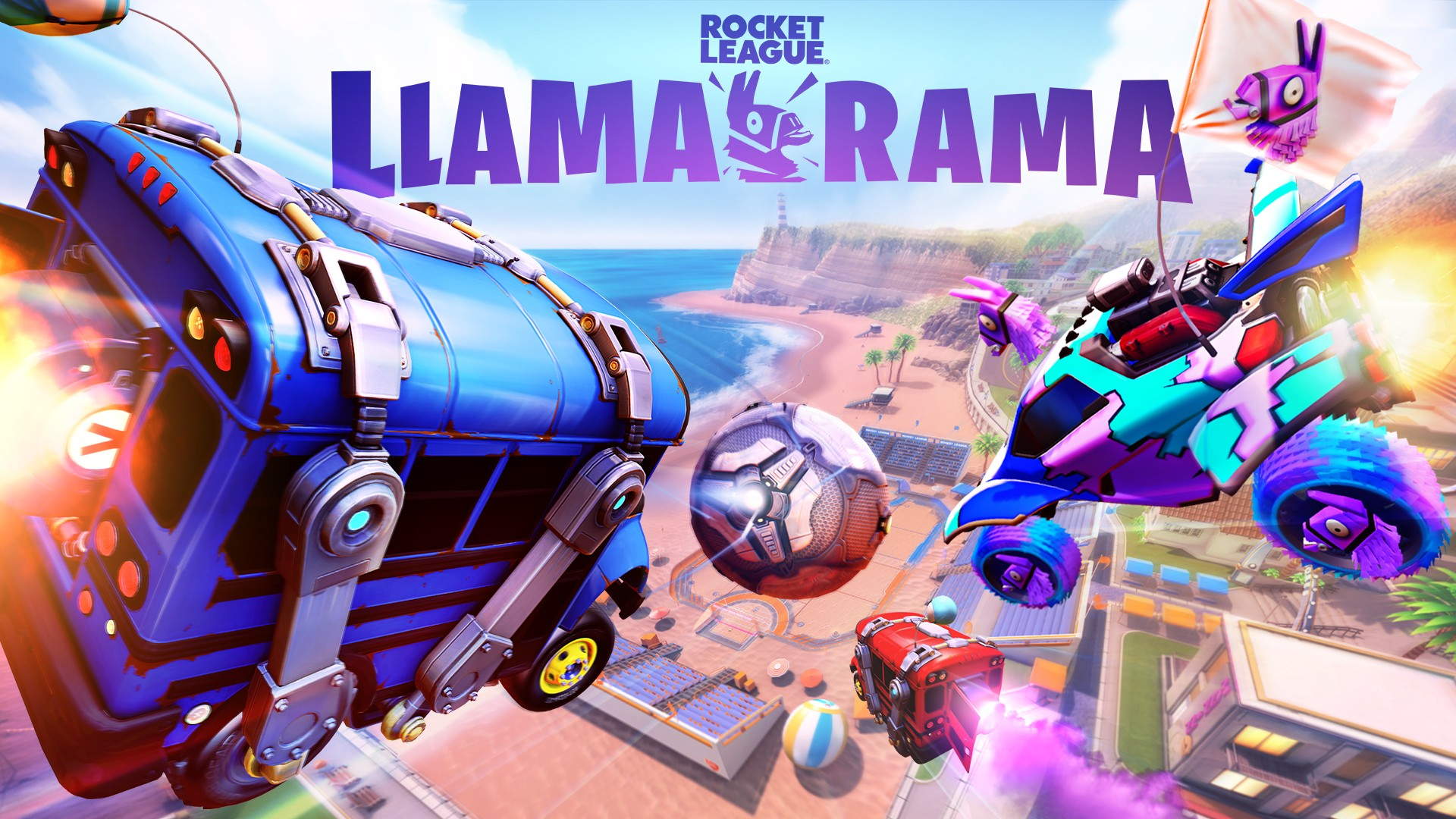 Start Your Engines for Llama-Rama: A Fortnite-Rocket League Crossover Event - Xbox Wire