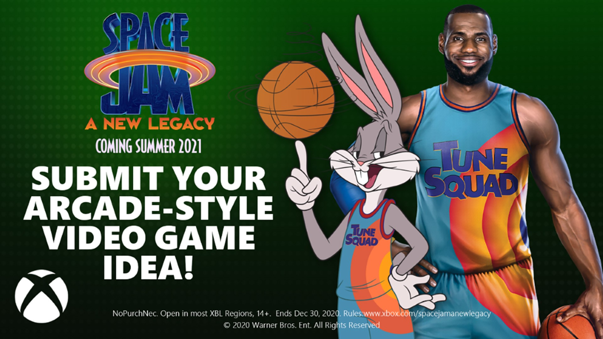 Video For LeBron James, Bugs Bunny, and Xbox Invite Fans to Create a Space Jam: A New Legacy Video Game