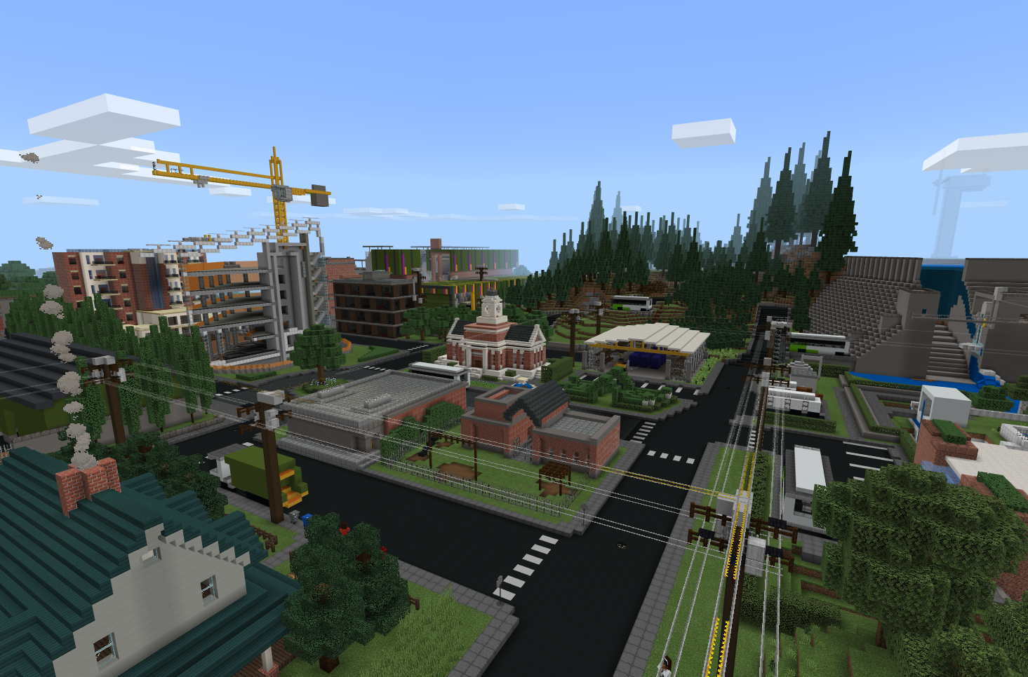 Minecraft Sustainability City Map