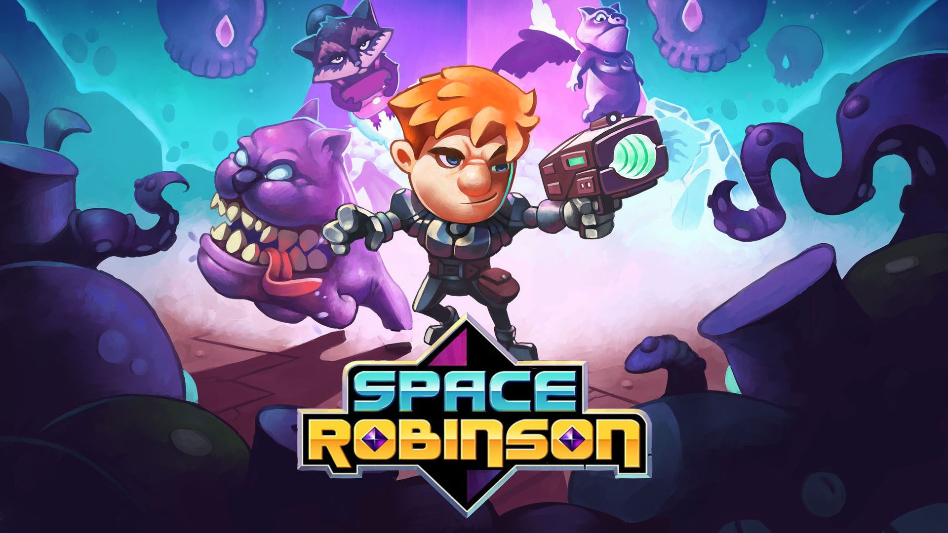 Video For Slaughter Aliens and Fix a Broken World in Space Robinson