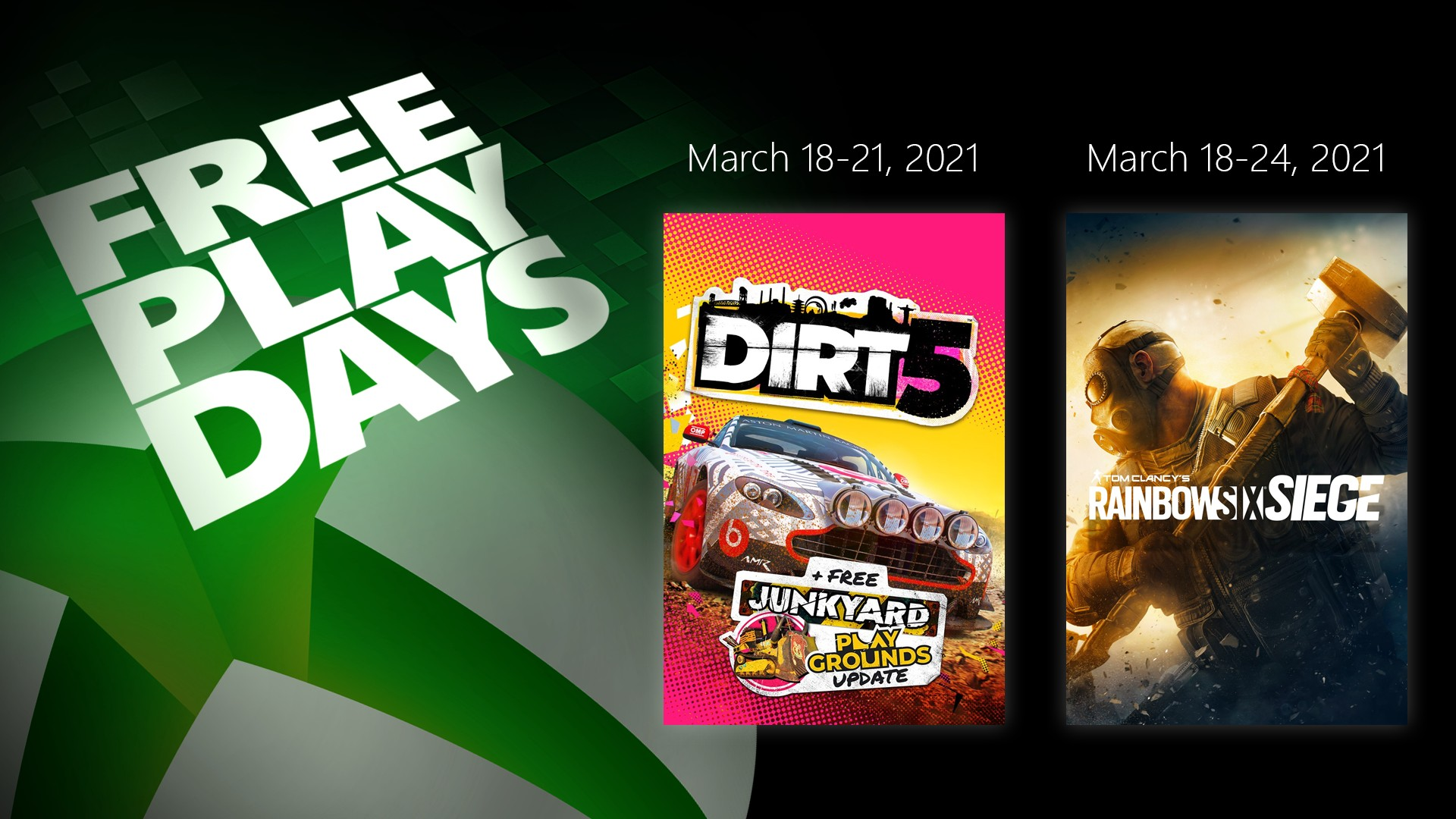 Free Play Days - March 18