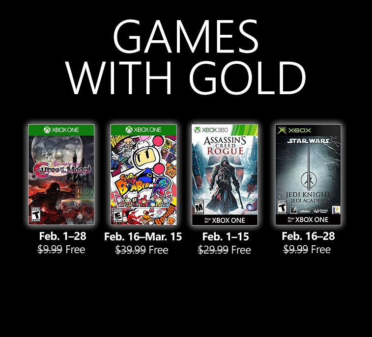 Video For New Games with Gold for February 2019