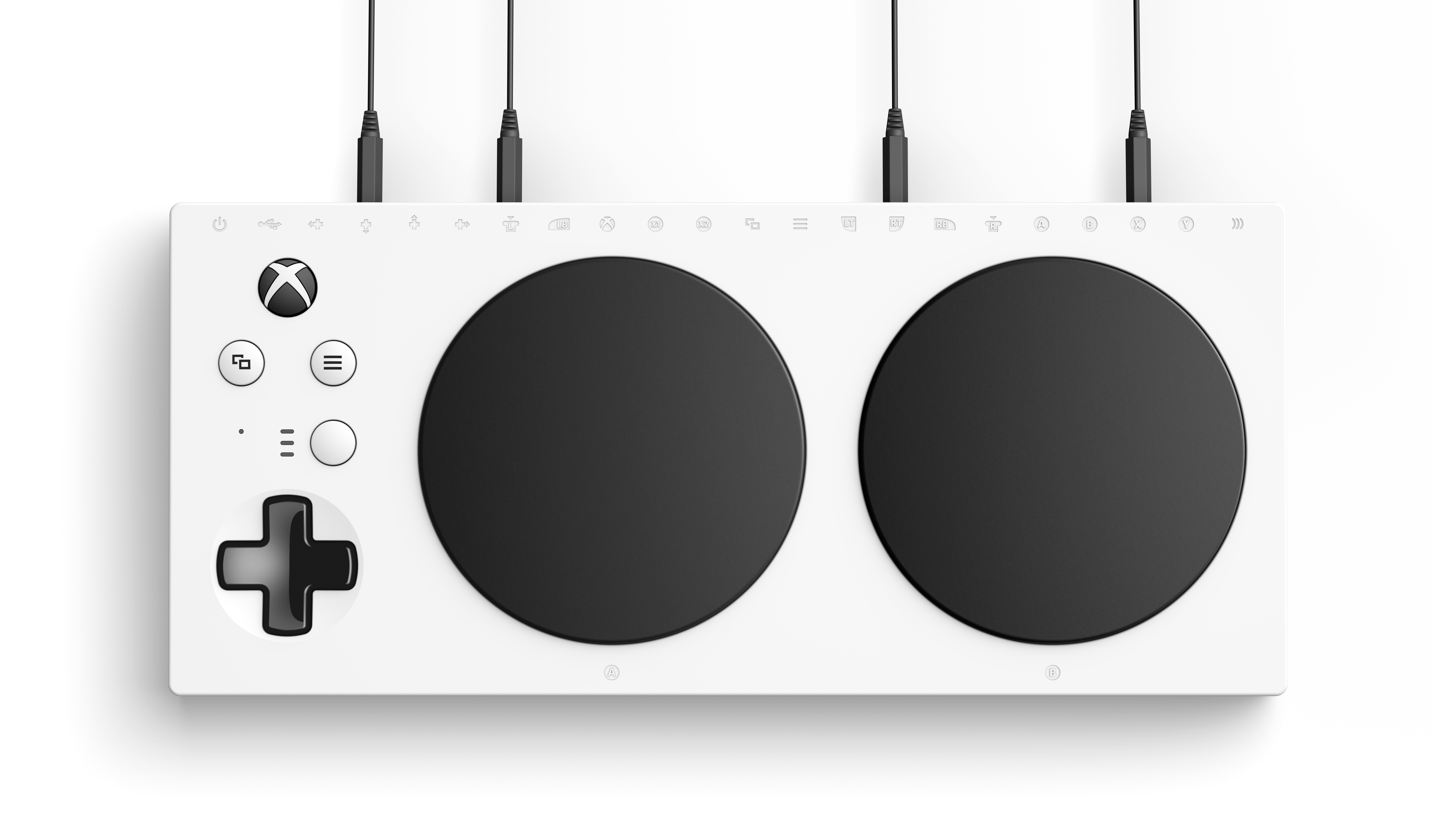 Xbox Adaptive Controller Top with Plug In V2