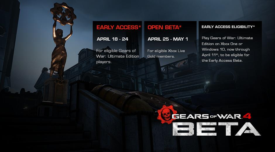 Gears 4 Beta Opens in April