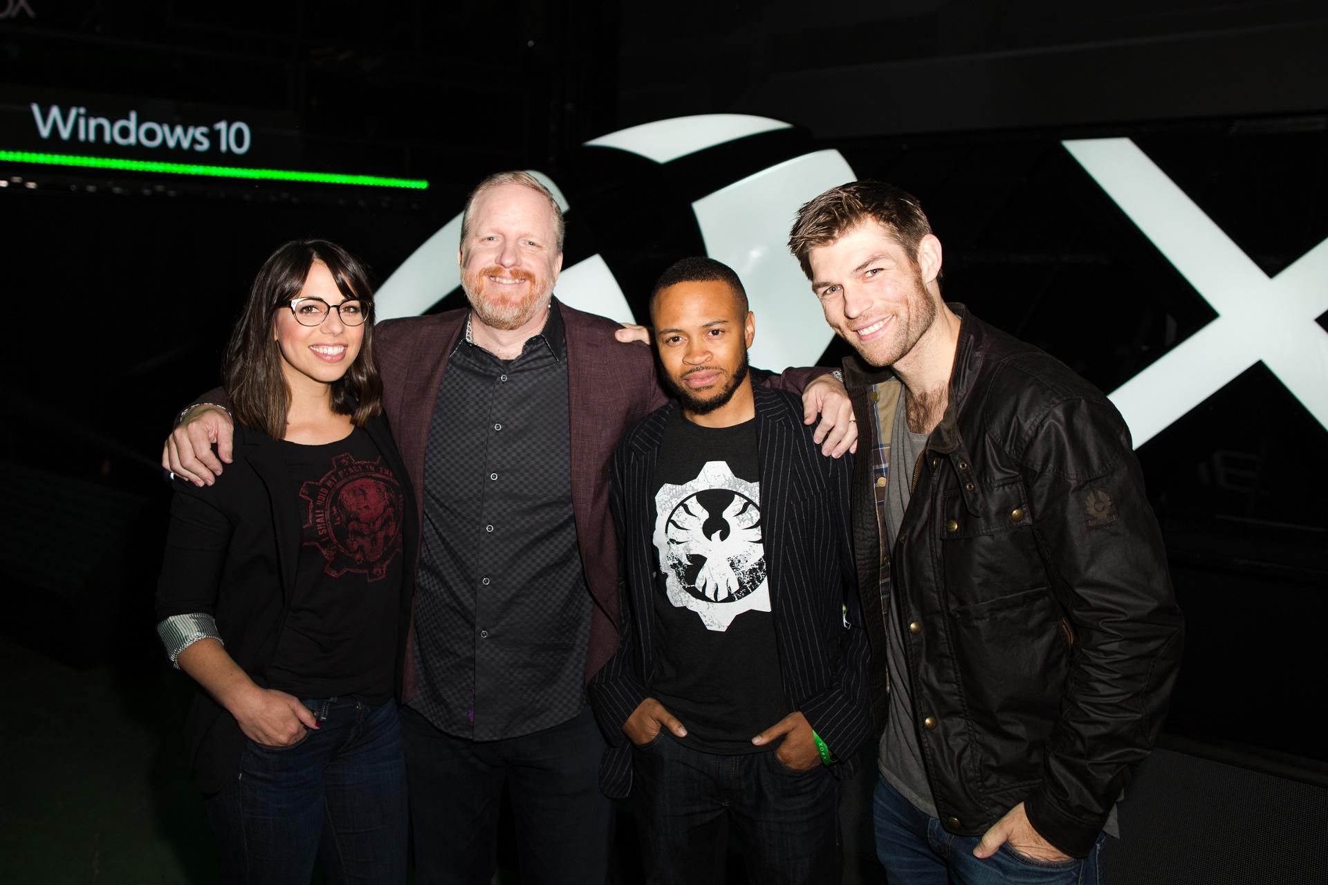 Gears of War 4 voice cast at E3 2016