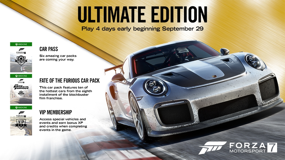 Video For Play Forza Motorsport 7 Four Days Early with Today's Release of the Ultimate Edition
