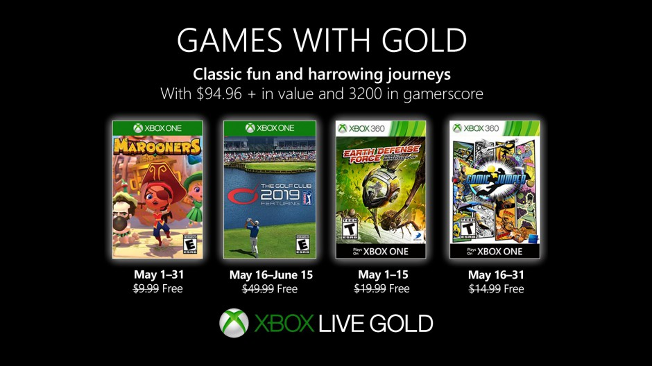 Games with Gold May 2019 Hero Image