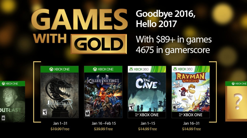 Video For January's Games with Gold Welcomes Fun-filled Competition and Cooperation into the New Year