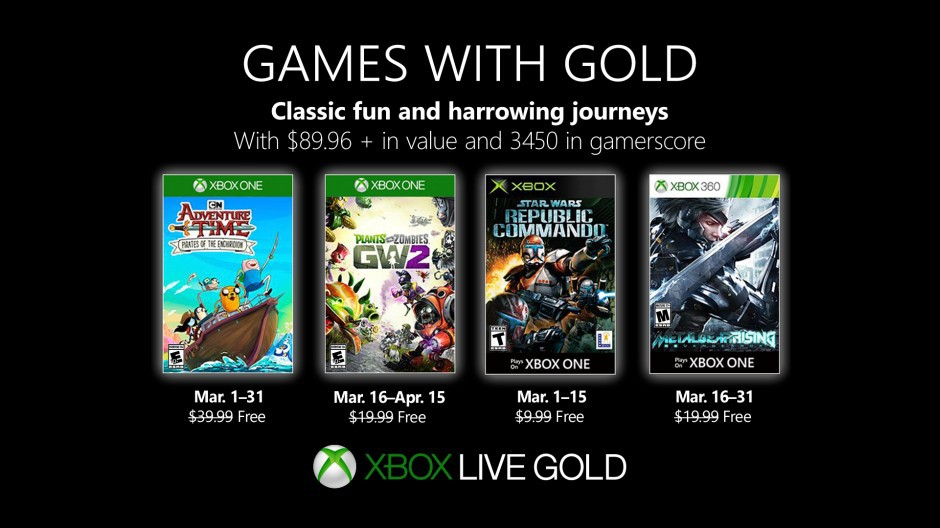 Video For New Games with Gold for March 2019