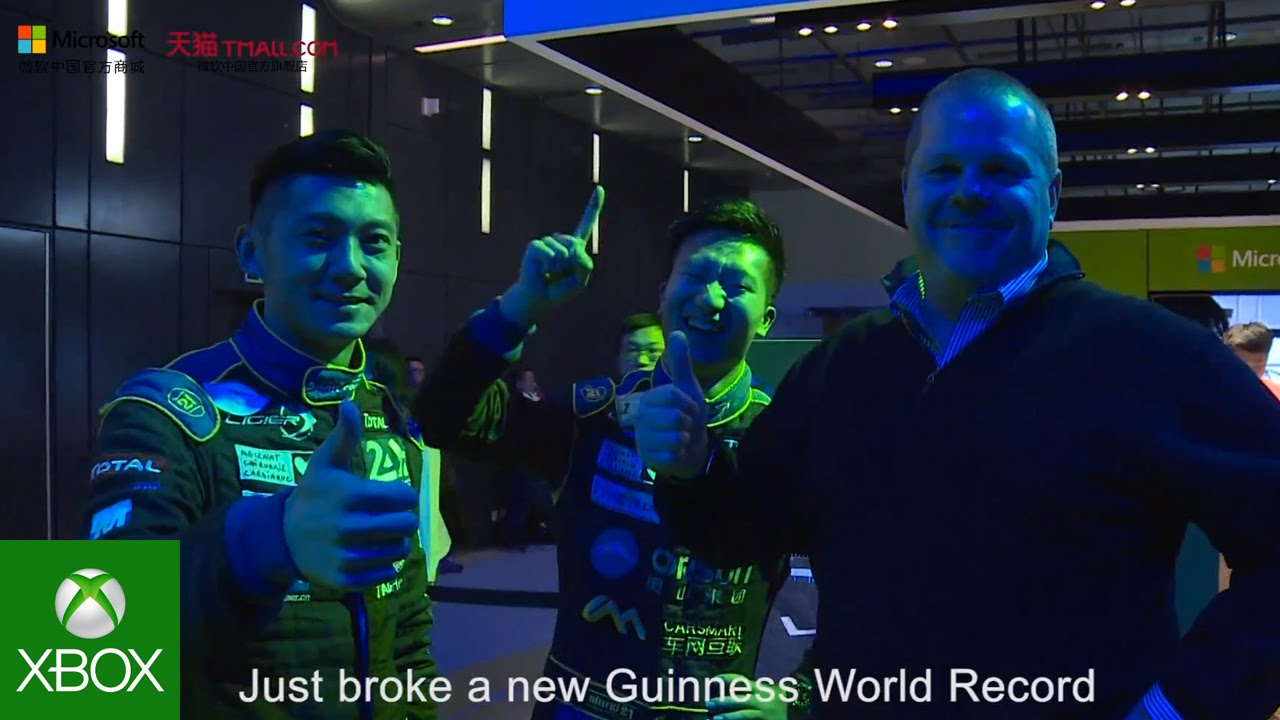 """Video For Race Drivers Set Guinness World Record in """"Forza Race for the Record"""" Challenge"""