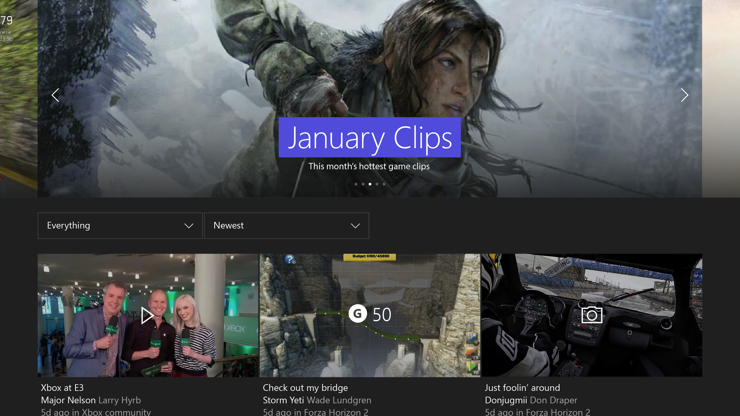Console Trending Landing Page