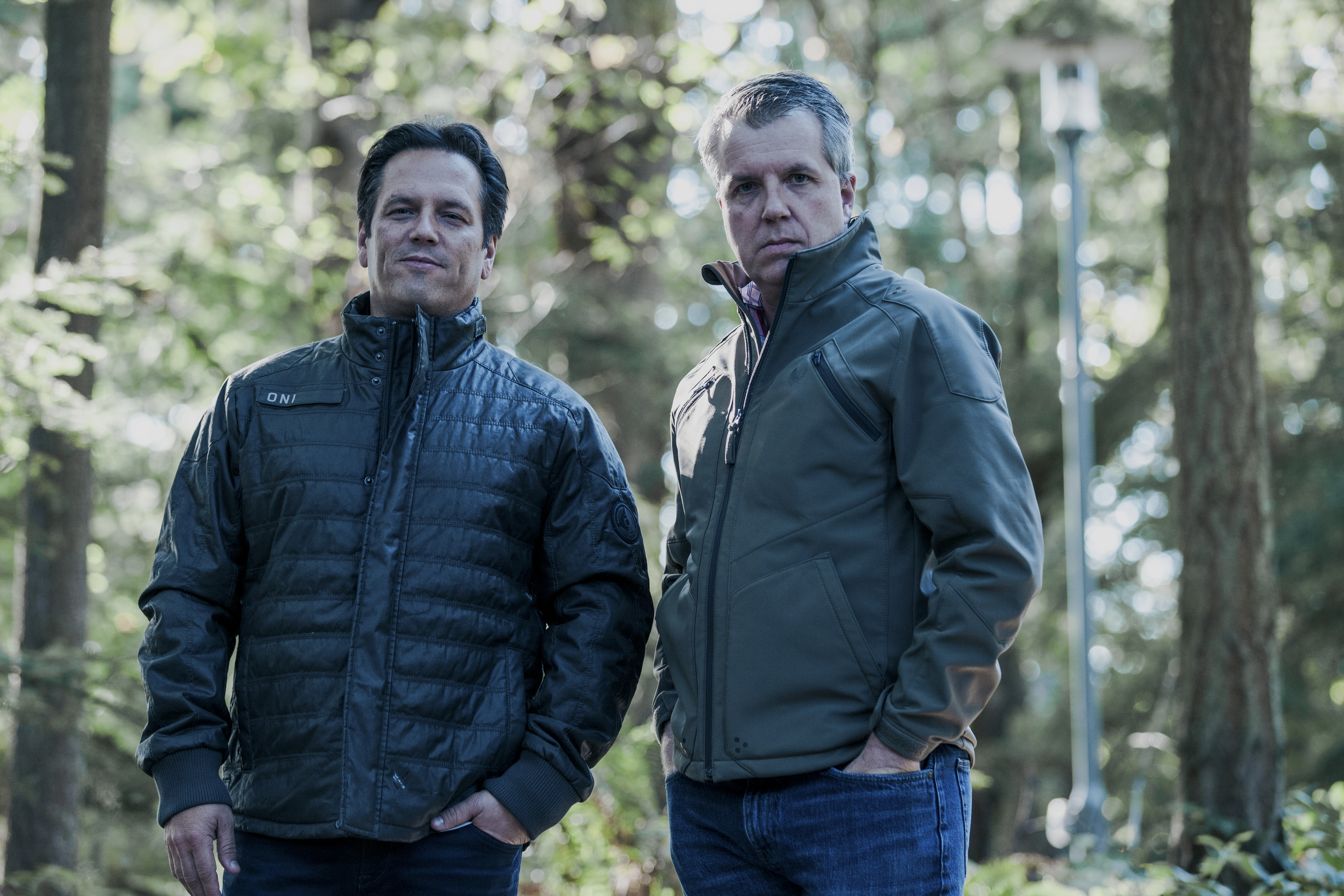 Phil Spencer and Major Nelson in Musterbrand