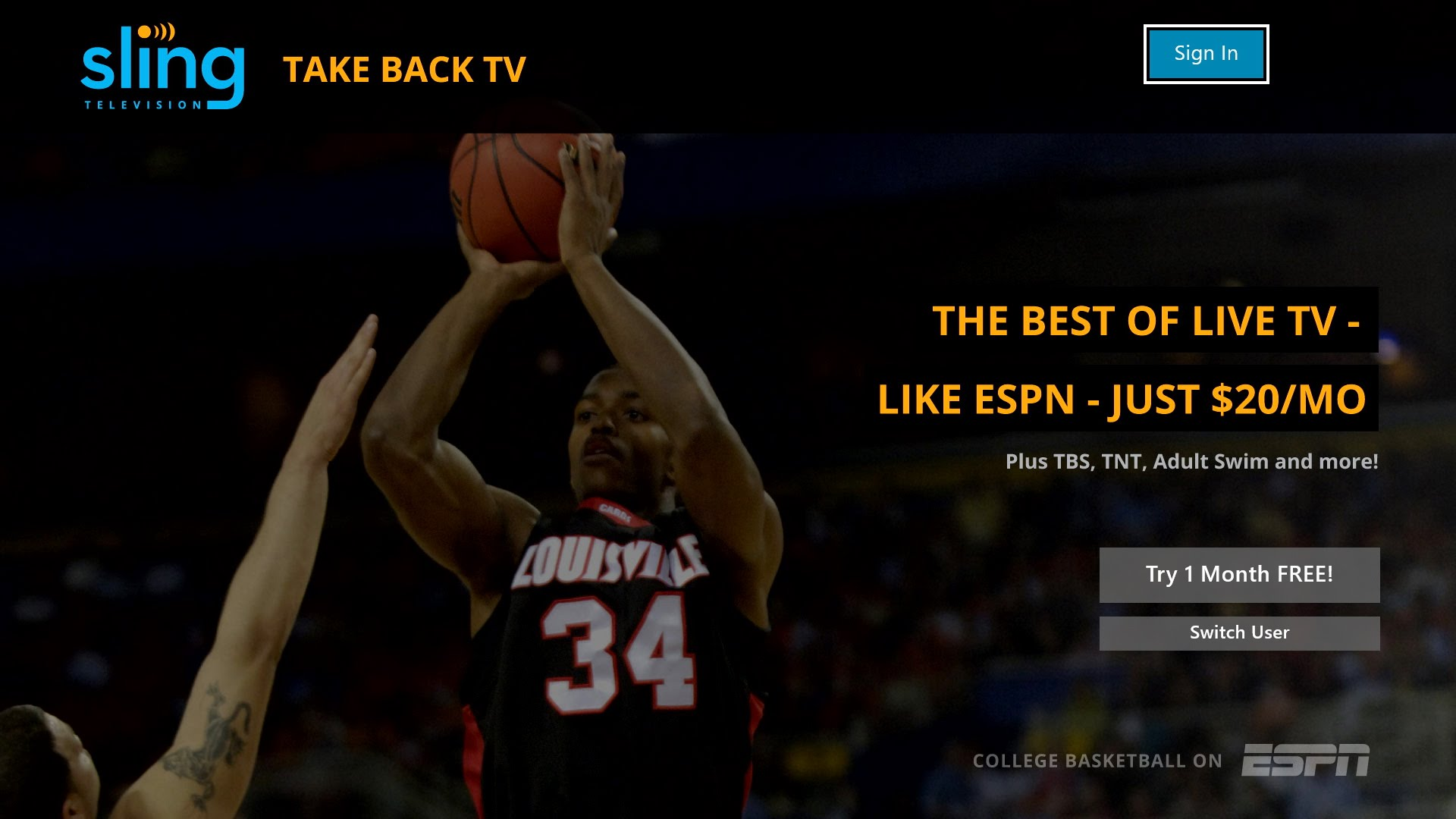 Video For Sling TV Launches Today Exclusively on Xbox One; Xbox Members Get Exclusive One Month Free Trial