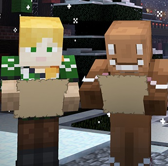 Minecraft Windows 10 Edition holiday Skins Pack Poster