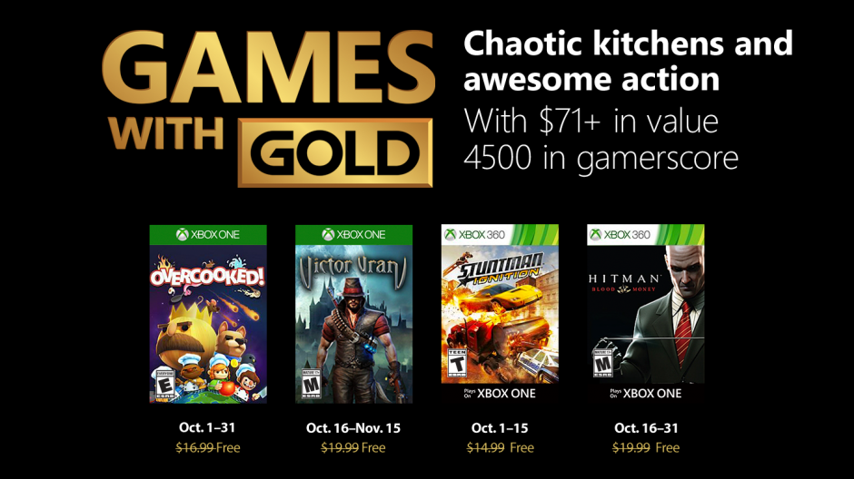 Video forNew Games with Gold for October 2018