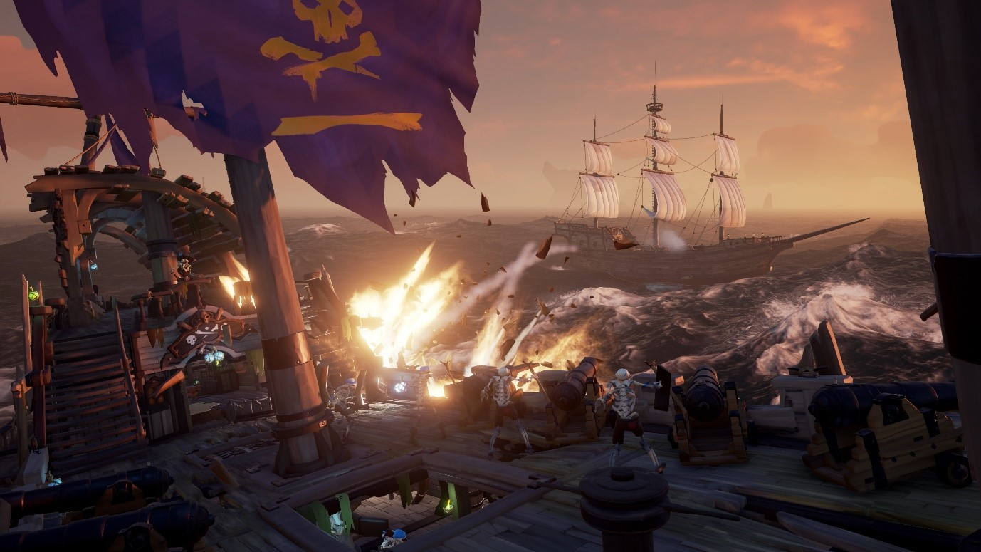 Video For Sea of Thieves 'Cursed Sails' Free Update To Unleash Skeleton Ships On July 31