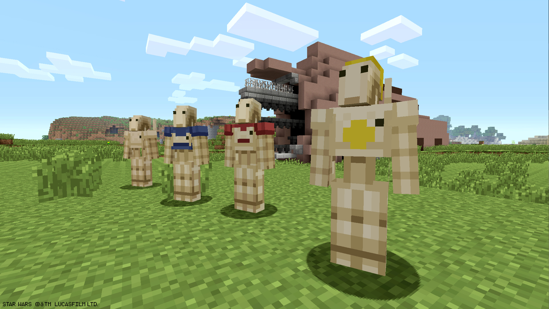 Star Wars Prequel Characters Land On Planet Minecraft Xbox Wire