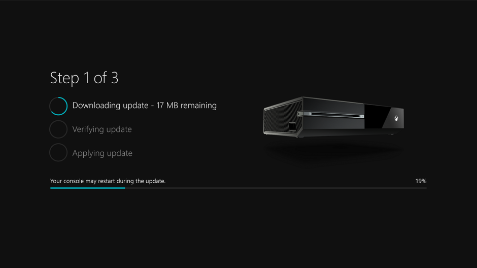 System Update Screenshot on Xbox One