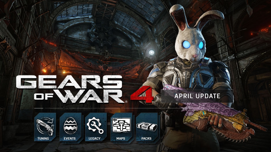 Video For Gears of War 4 April Update Includes Chocolate Weapons and New Maps