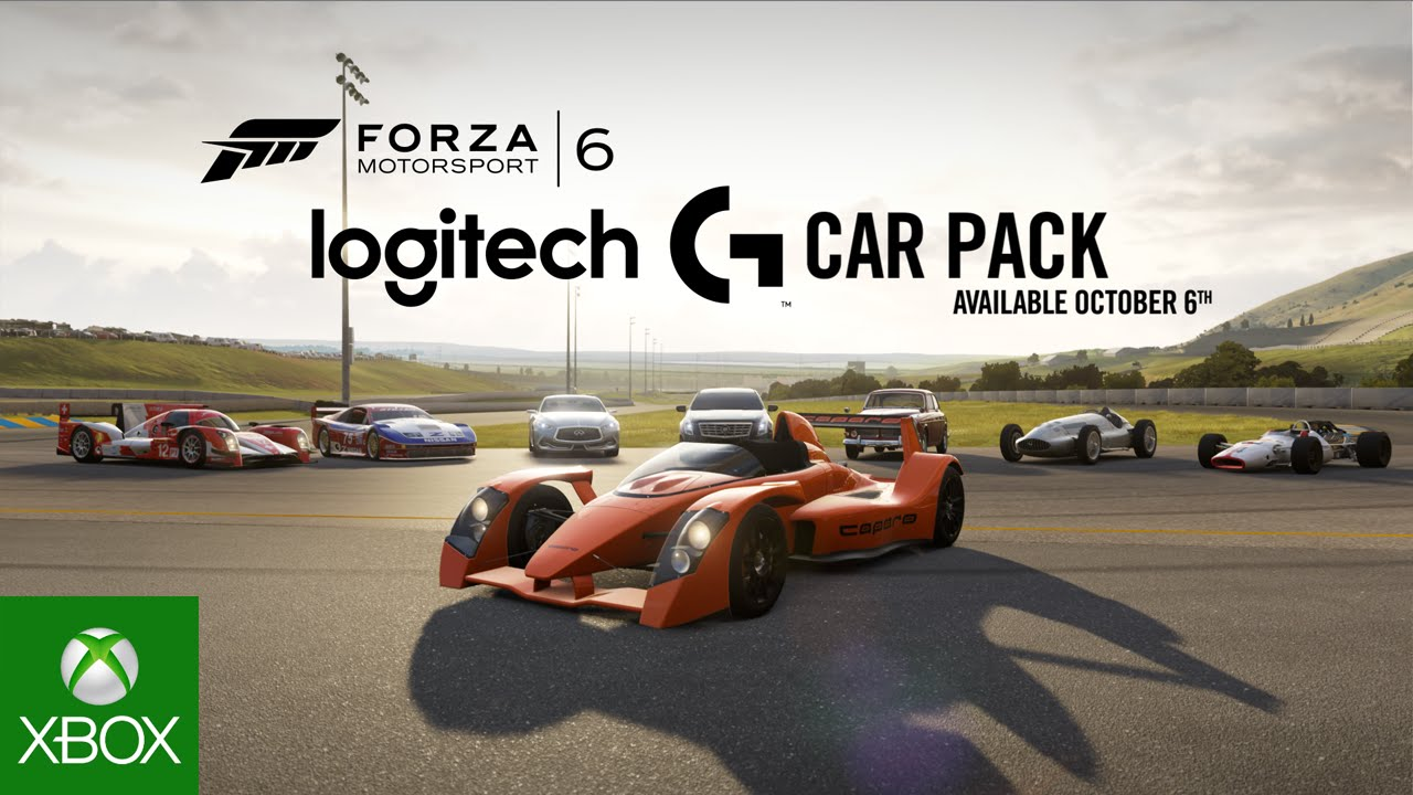 Video For Speed through October with the Logitech G Car Pack, Now Available for Forza Motorsport 6