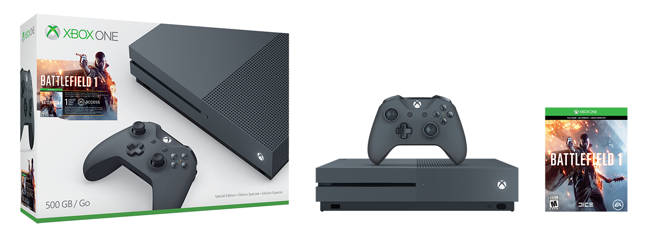 Xbox One S Battlefield 1 Special Edition Bundle