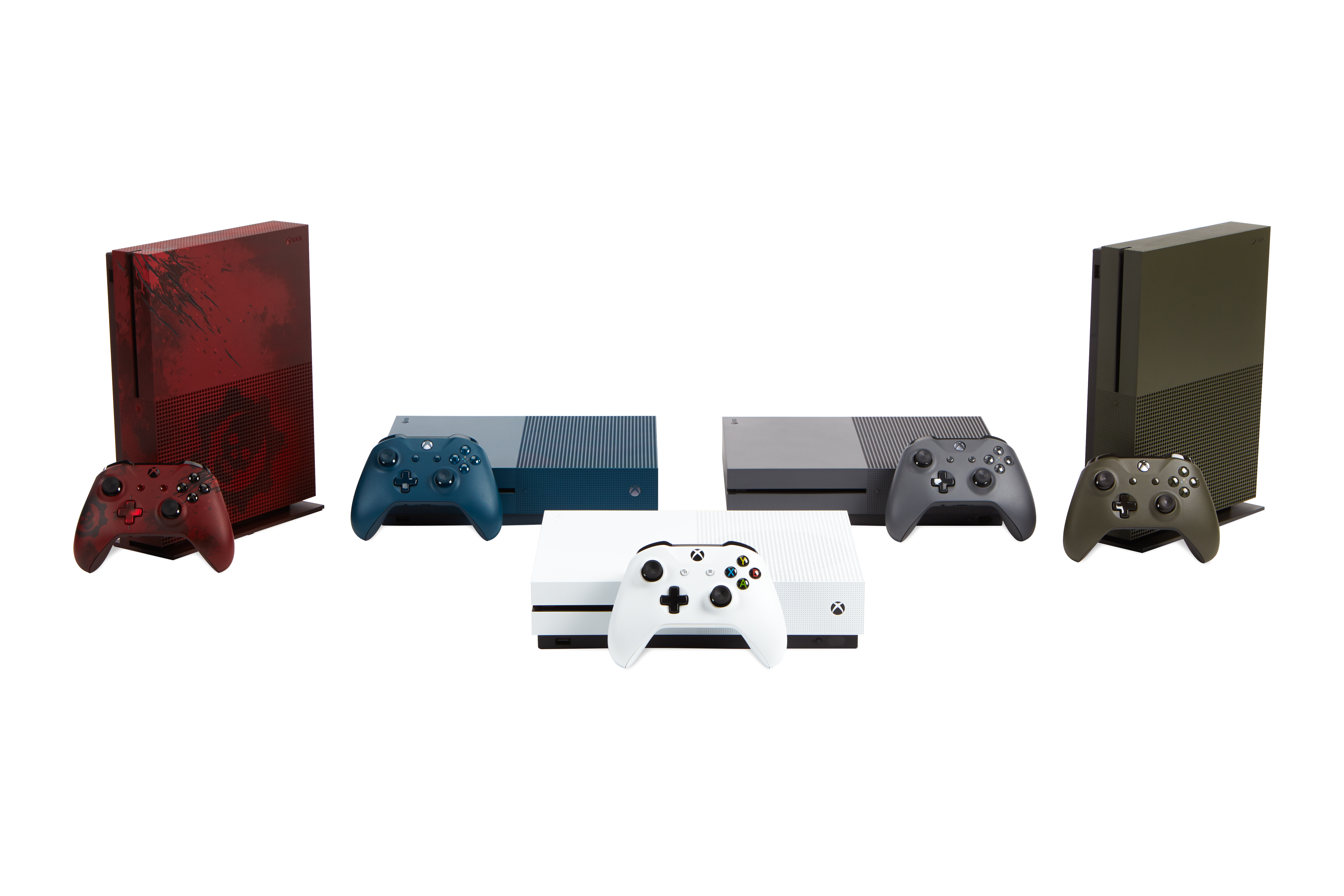 Picture of various Xbox One S consoles available this holiday