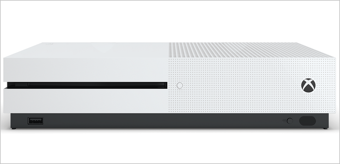 Front hardware shot of Xbox One S