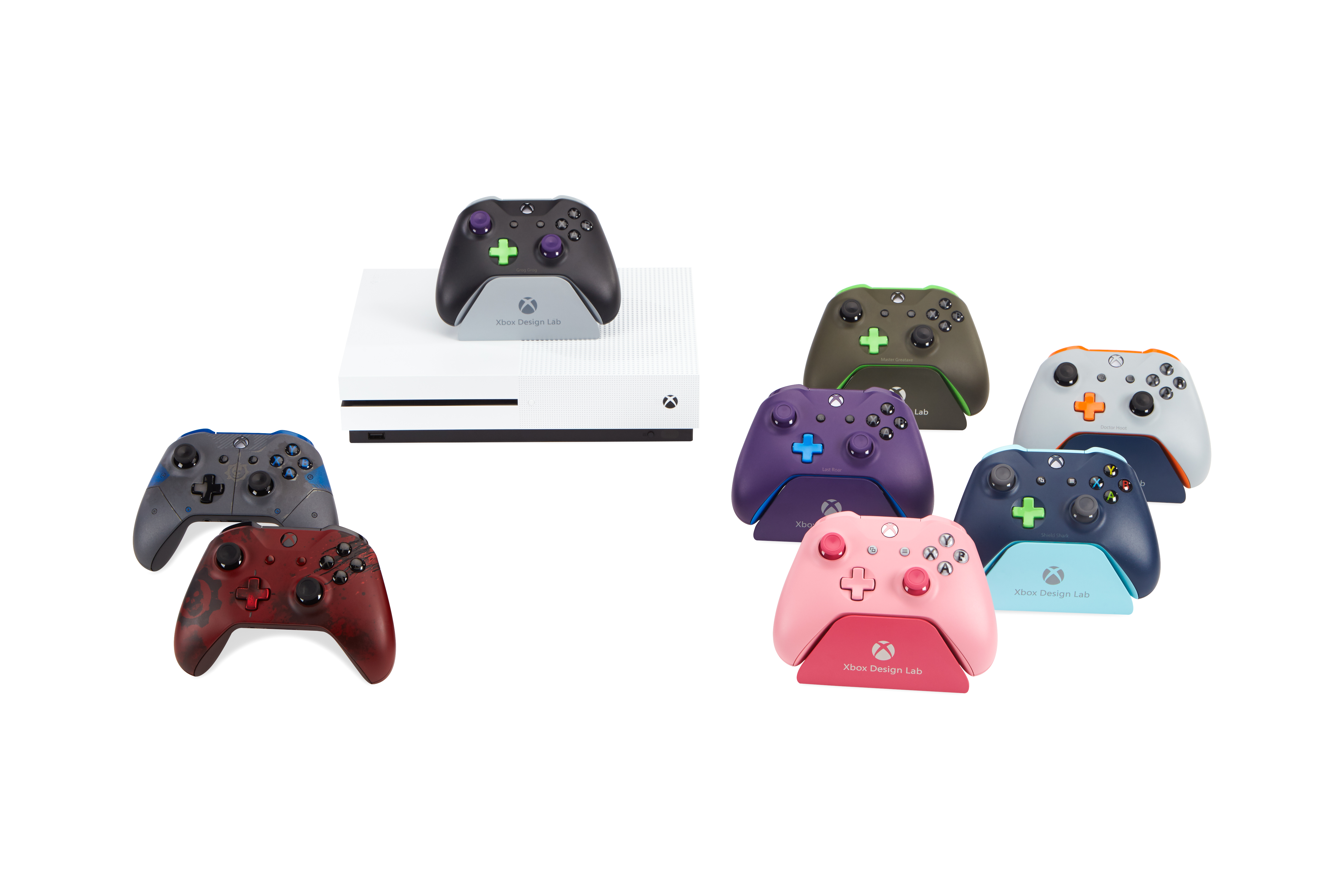 Picture of various Xbox Wireless Controllers available this holiday
