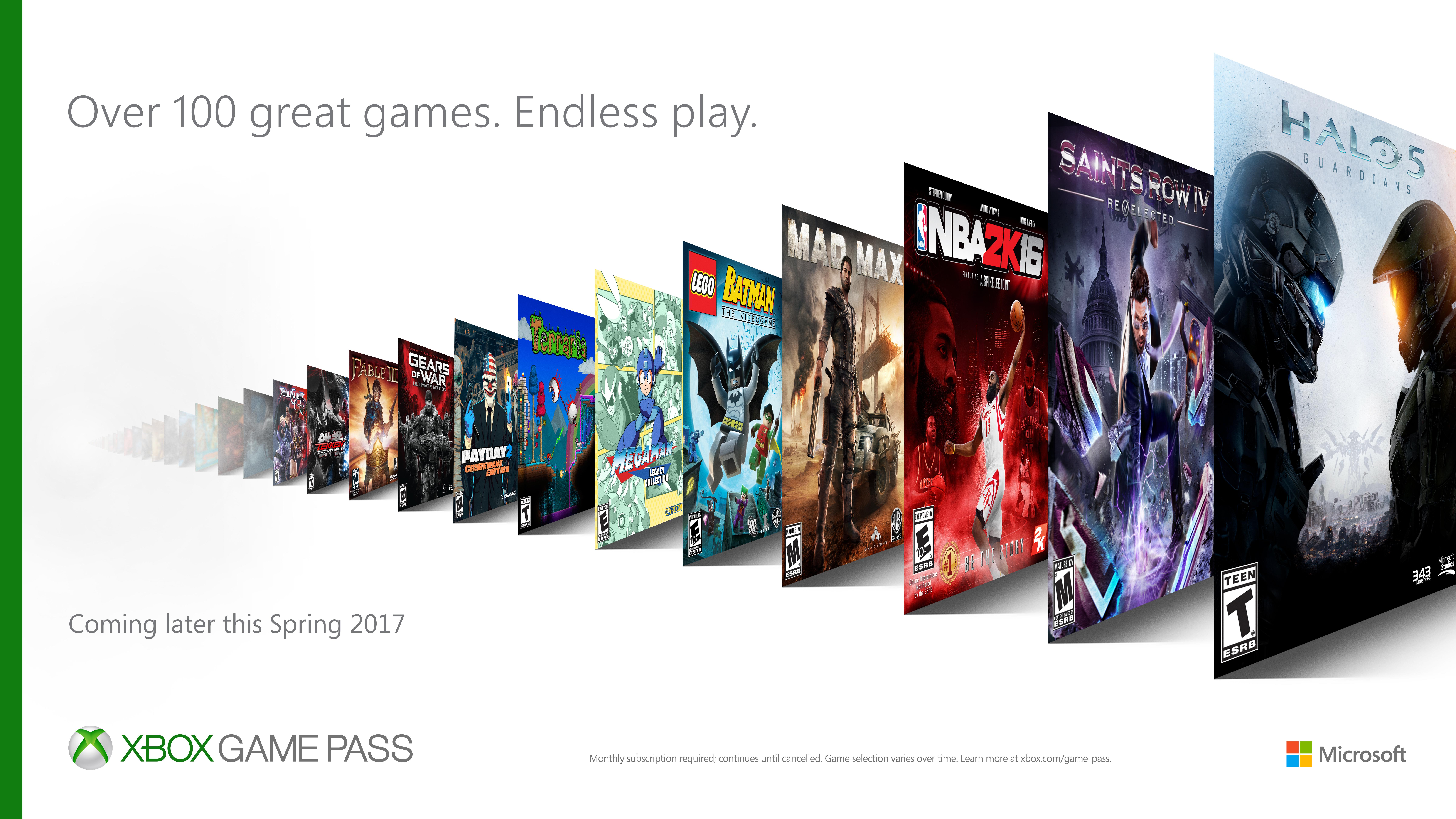 Xbox Game Pass Variety Horizontal