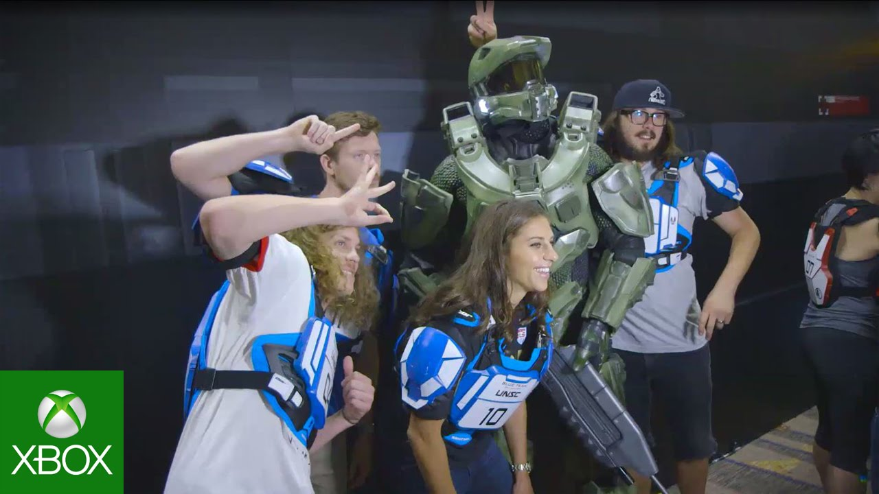 Video For Celebrities Take on 343 Industries in the Halo 5: Guardians Breakout Arena