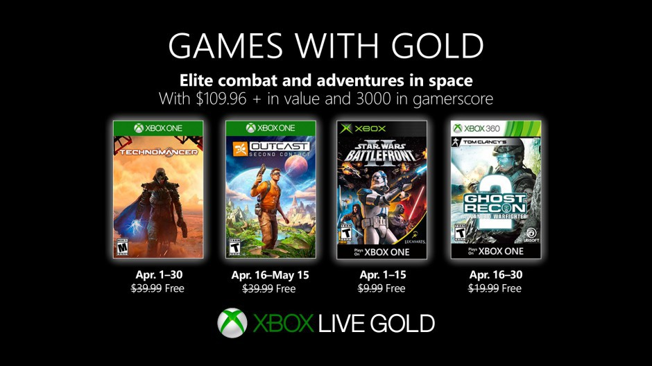 Video For Novedades de Games with Gold de abril 2019