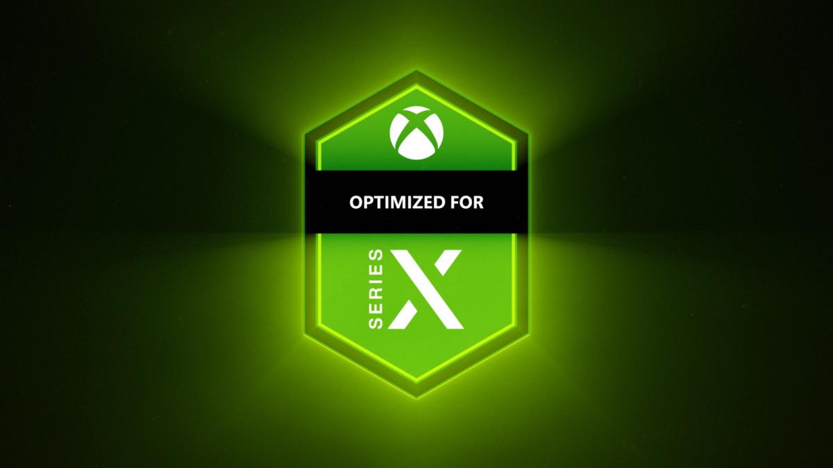 Selo dos jogos otimizados para Xbox Series X